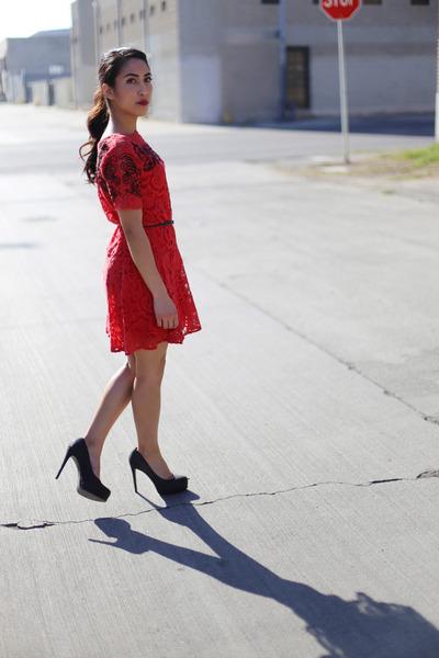 4575a3c26c533 Black Glitter Pour La Victoire Heels, Red As, Line Lace Free People ...