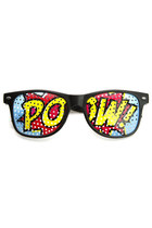 POW POP ART MESH PRINT WAYFARER GLASSES 8856