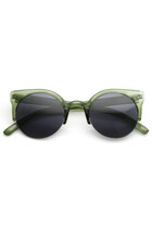 SUPER TRENDY RETRO ROUND CIRCLE CAT EYE SUNGLASSES 8760