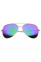 OVERSIZE 62MM METAL REVO LENS AVIATOR SUNGLASSES 9596