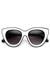 cat eye zeroUV sunglasses