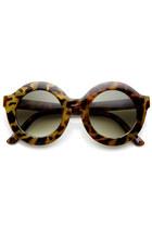oversize round tortoise sunglasses