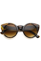 RETRO WOMENS FASHION ROUND CAT EYE SUNGLASSES 8806