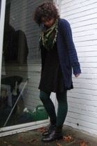 The Limited dress - JCrew sweater - Urban Outfitters scarf - tights - shoes