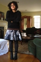 sunglasses - top - Anthropologie skirt - tights - tights - shoes