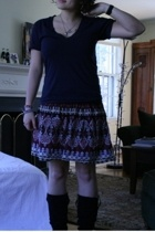 American Apparel t-shirt - Urban Outfitters skirt - shoes