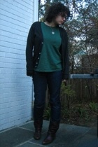 American Apparel sweater - Gap t-shirt - Old Navy jeans - shoes - necklace