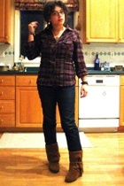 Forever21 shirt - Old Navy jeans - Minnetonka shoes