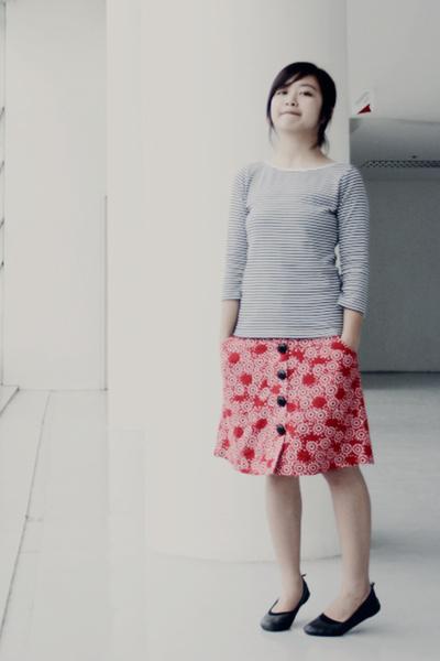 thrifted shirt - Mango skirt - Topshop shoes
