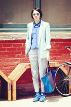Front Row Shop blazer - Celine bag - H&M pants - Club Monaco blouse