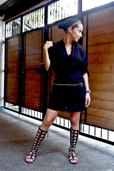 random from Hong Kong dress - Debenhams belt - crossings shoes