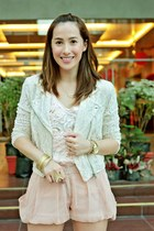 beige oxfords random from Hong Kong shoes - beige H&M blazer - pink bought onlin
