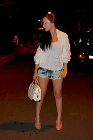 random from Hong Kong jacket - cotton on shorts - GoJane shoes