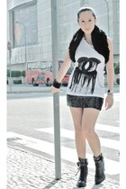 black random from Hong Kong vest - white PROUDRACE top - black LoveCulture skirt