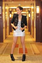 ployy blazer - Forever 21 shirt - LoveCulture skirt - sam edelman shoes