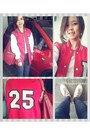 White-lace-up-oxfords-amanda-janes-shoes-red-varsity-jacket-custom-made-jacket
