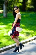 slipdress Zara dress - studded Zara bag