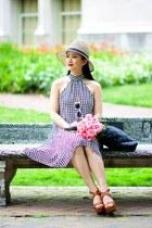 Zara hat - tildon dress - kork-ease wedges