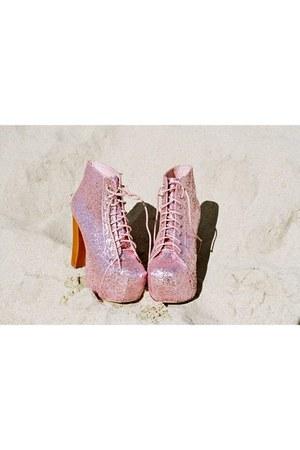 bubble gum Jeffrey Campbell boots - bubble gum Nasty Gal boots