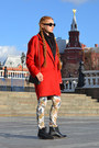 Black-asos-boots-red-river-island-coat-black-mango-bag-beige-zara-pants