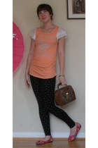 blouse - H&M leggings - shoes - purse