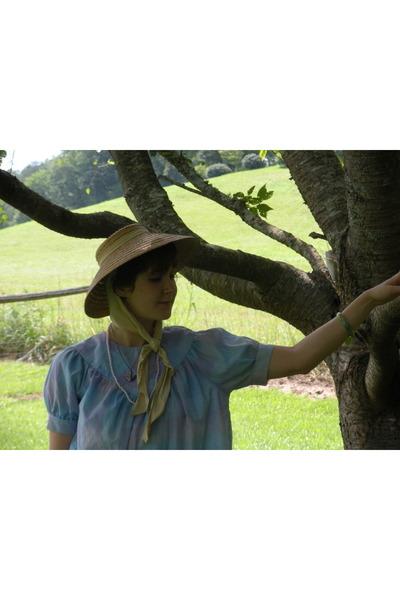 violet folklore etsy blouse - hat - shorts