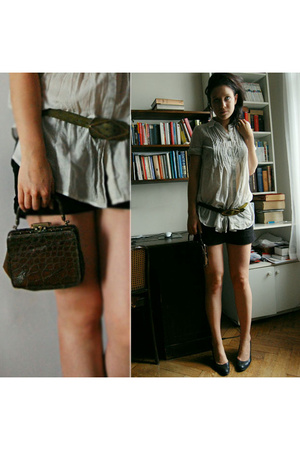 vintage belt - family item purse - Promod shirt - Primark shorts