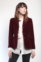 crimson velvet vintage blazer