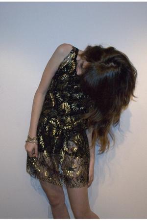 gold ZZC dress