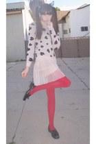 eggshell Forever 21 dress - cream Forever 21 sweater