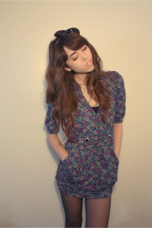 Vintage by Zozo dress - black Forever 21 accessories