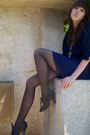 Dress-black-payless-shoes-black-sears-tights-gold-necklace-yves-saint-la