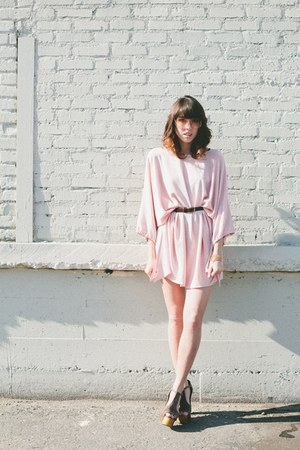 light pink thrifted dress