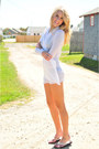 White-h-m-sweater-cream-gap-sandals-black-victorias-secret-swimwear